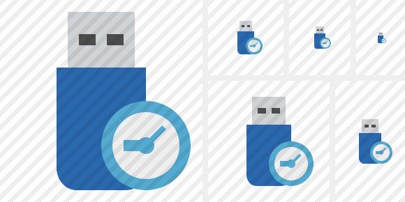 Flash Drive Clock Icon