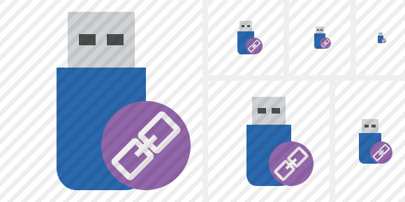 Flash Drive Link Icon