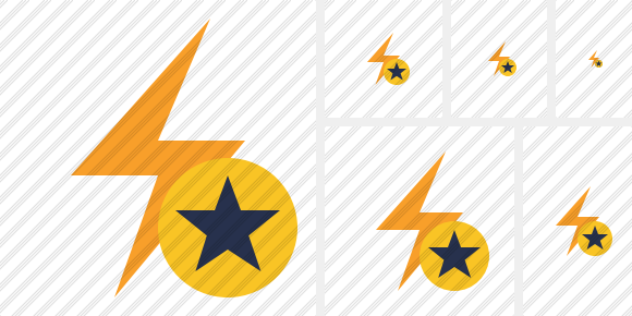 Flash Star Icon