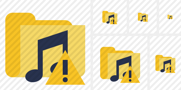 Folder Music Warning Icon