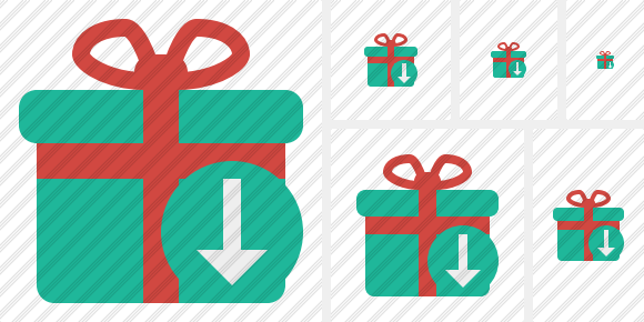 Gift Download Icon