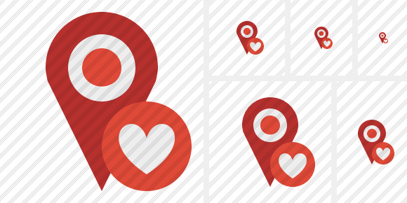 Map Pin Favorites Icon