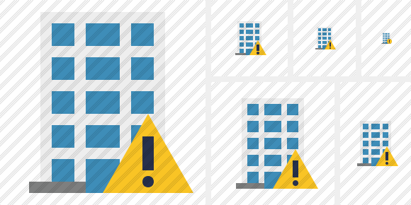 Office Building Warning Icon