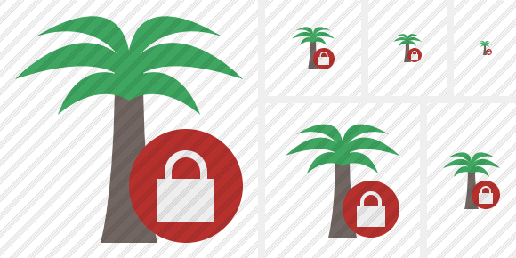 Palmtree Lock Icon