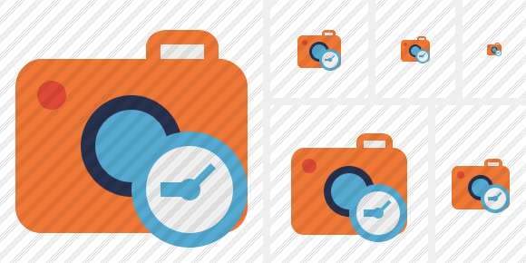Photocamera Clock Icon
