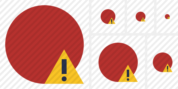 Point Red Warning Icon