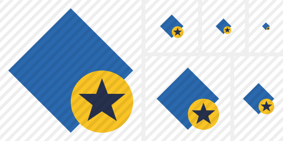 Rhombus Blue Star Icon