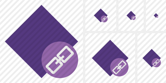 Rhombus Purple Link Icon