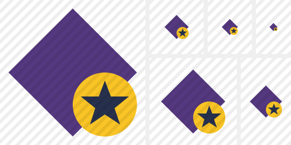 Rhombus Purple Star Icon
