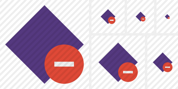 Rhombus Purple Stop Icon