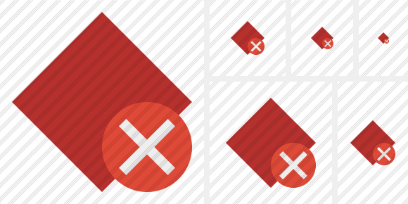 Rhombus Red Cancel Icon