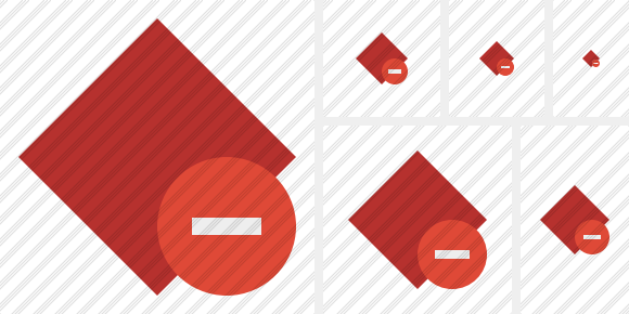 Rhombus Red Stop Icon
