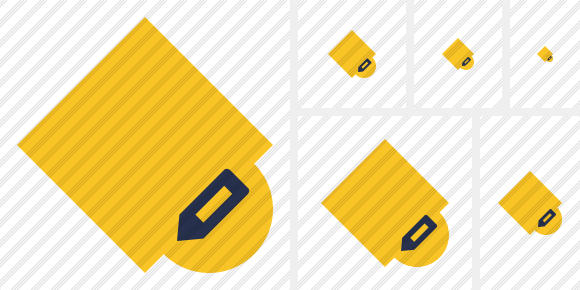 Rhombus Yellow Edit Icon