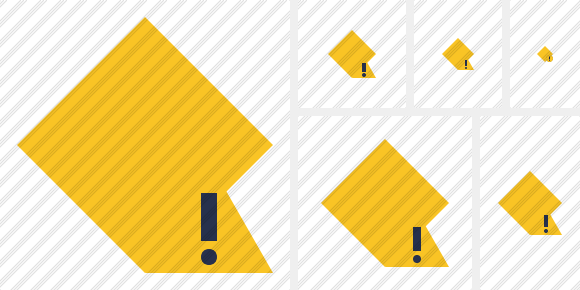 Rhombus Yellow Warning Icon