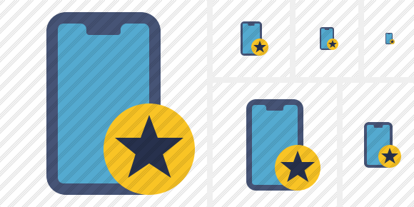 Smartphone 2 Star Icon