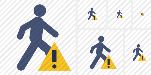 Walking Warning Icon