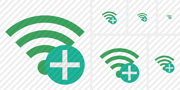 Wi Fi Green Add Icon