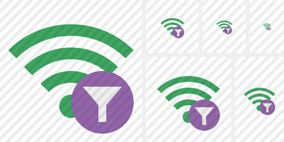 Wi Fi Green Filter Icon