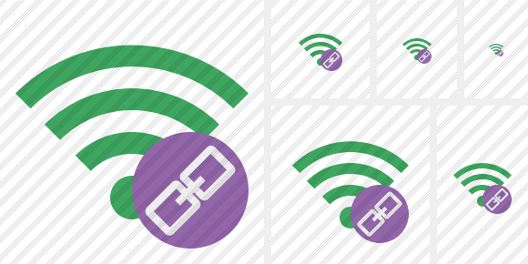 Wi Fi Green Link Icon