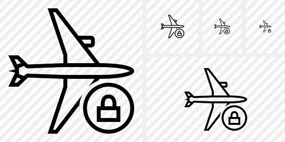 Airplane Horizontal Lock Icon
