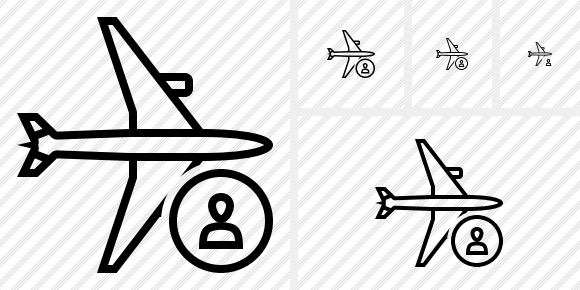 Airplane Horizontal User Icon