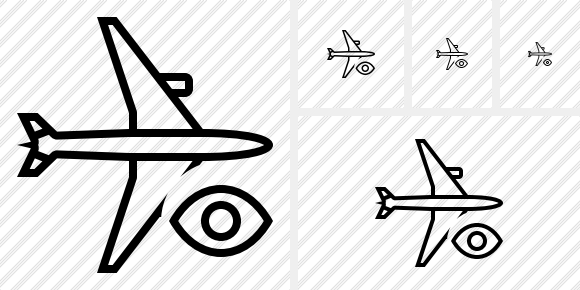Airplane Horizontal View Icon