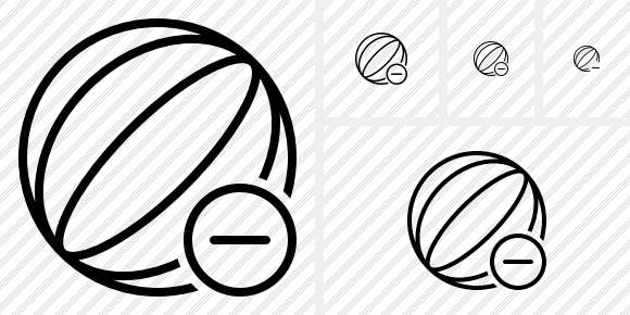 Beach Ball Remove Icon
