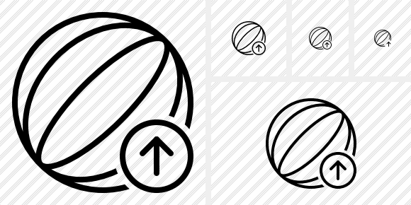 Beach Ball Upload Icon