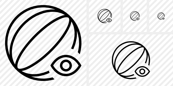 Beach Ball View Icon