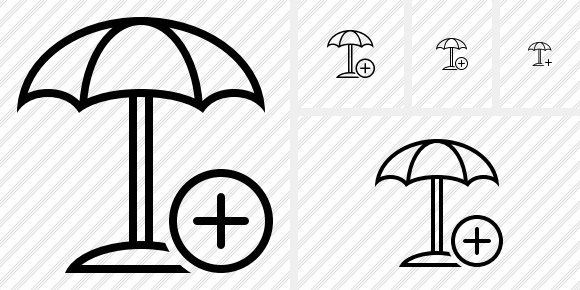 Beach Umbrella Add Icon