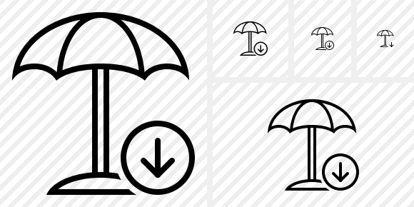 Beach Umbrella Download Icon