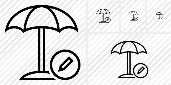 Beach Umbrella Edit Icon