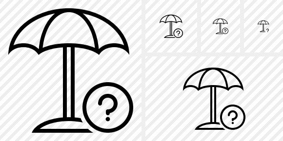 Beach Umbrella Help Icon