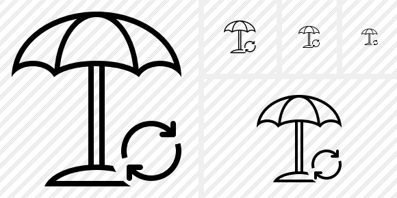 Beach Umbrella Refresh Icon