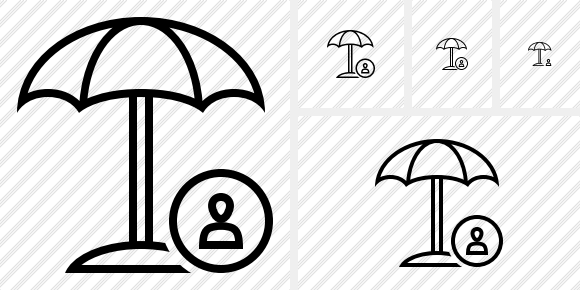 Beach Umbrella User Icon