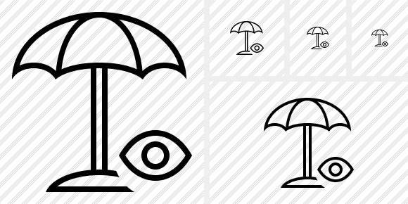 Beach Umbrella View Icon