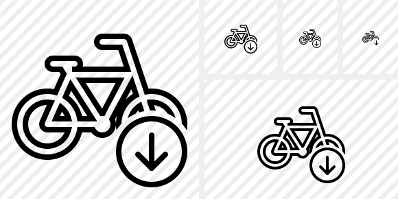 Bicycle Download Icon