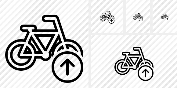 Bicycle Upload Icon