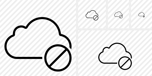 Cloud Block Icon