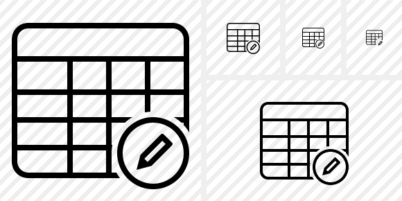 Database Table Edit Icon