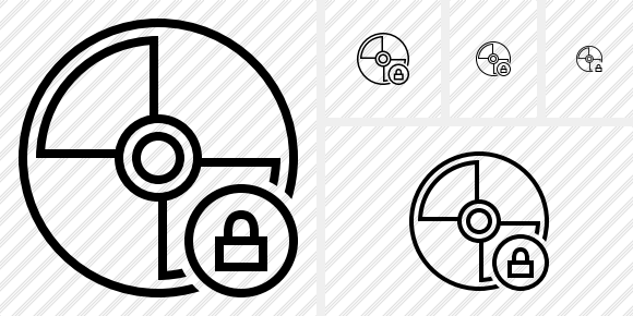 Disc Lock Icon