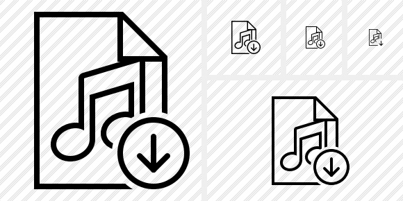 File Music Download Icon