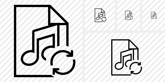File Music Refresh Icon