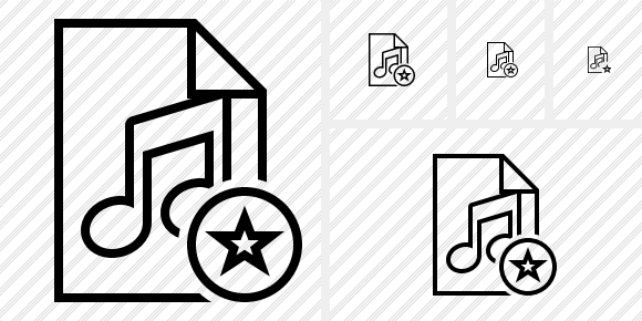File Music Star Icon