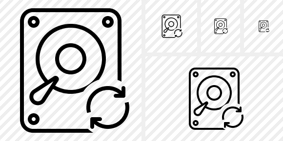 Hard Drive Refresh Icon