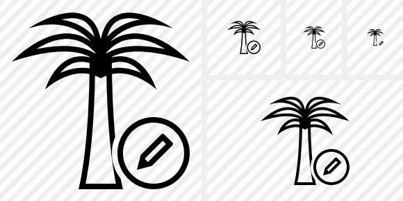 Palmtree Edit Icon