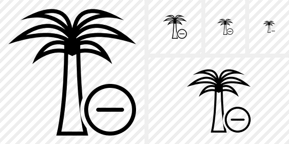 Palmtree Remove Icon