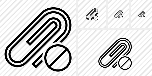 Paperclip Block Icon