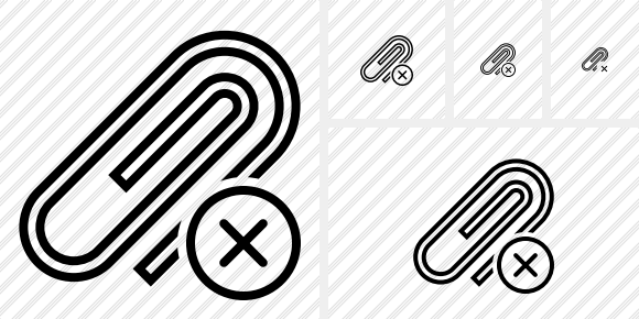Paperclip Cancel Icon