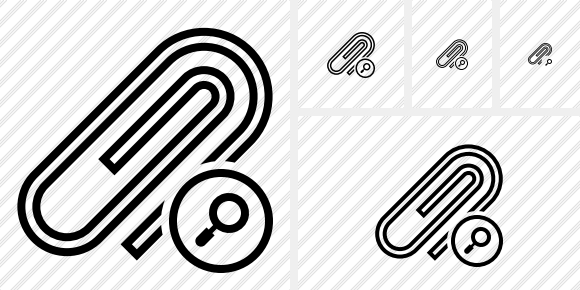 Paperclip Search Icon